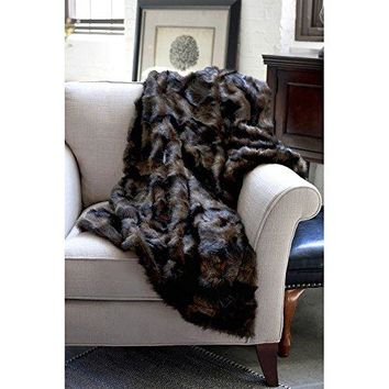 Ben and Jonah Mink Faux Fur Throw Blanket