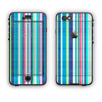 The Colorful Highlighted Vertical Stripes  Apple iPhone 6 LifeProof Nuud Case Skin Set