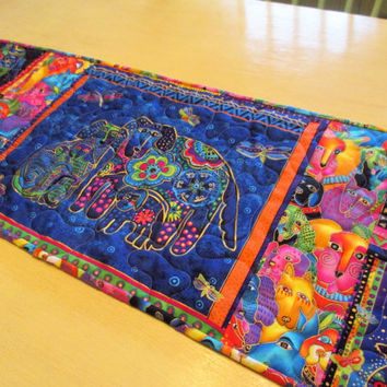 Modern Table Runner , Laurel Burch , Folk Art Runner
