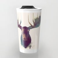 Moose Travel Mug by Amy Hamilton