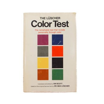 The Lüscher Color Test Hardcover Book from 1969