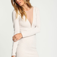 Twinkle Plunge Mesh Bodycon Dress