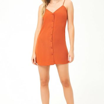 Button-Down Cami Mini Dress