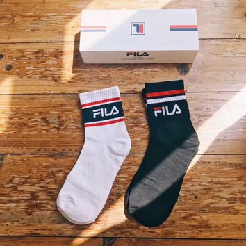 FILA Embroidered Socks with Box