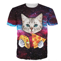 Pizza Taco Cat In Space T-Shirt
