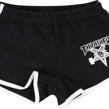 Thrasher - Girls Skate Goat Night Shorts L - Blk / Wht