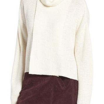 J.O.A. Turtleneck Crop Sweater | Nordstrom