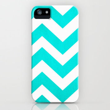 Chevron Blue Pattern iPhone Case by unidostees | Society6