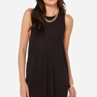 Obey Modern Rider Backless Black Dress