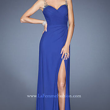 Long La Femme Sleeveless Evening Gown