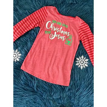 Christmas This Girl Loves Christmas   Jesus Long Sleeve Shirt 83e8f3a07
