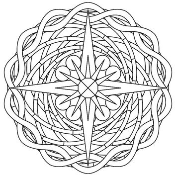 Adult Colouring Picture: Mandala 7.