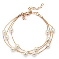 Classy Pearl Layered Bracelet