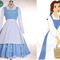 Disney Beauty and the Beast Disney Cosplay,Belle 3pcs Outfit