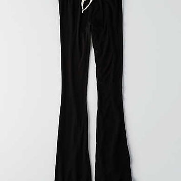 Don't Ask Why Ribbed Flare Pant, Black