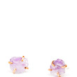 Amethyst Claw Stud Earrings