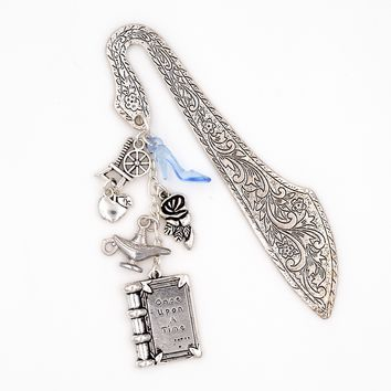 Fairy Tale Charm Bookmark (Cinderella, Sleeping Beauty, Snow White, Beauty and the Beast, Aladdin and the Magic Lamp)