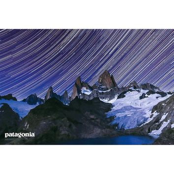 Patagonia Cerro Torre Star Trails Poster