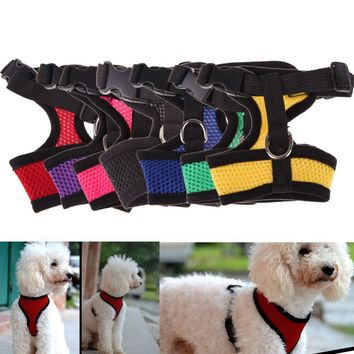 Adjustable Comfort Soft Breathable Dog Harness Pet Vest Rope Dog Chest Strap Leash Set Collar Leads Harness
