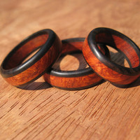 Anboyna Burl Wood Ring Band - Size 6 - Size 7 1/4 - Size 8 - Size  9 -  Size 10 - Size 11 - Size 12 - Wood Ring - Wooden Ring -His And Hers