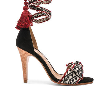Ulla Johnson Emeline Heels in Tribal Handloom | FWRD