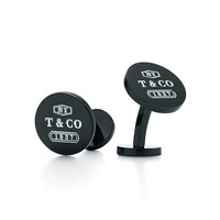 Tiffany & Co. -  Tiffany 1837™ round cuff links in titanium.