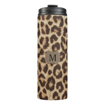 Monogram Leopard Print Thermal Tumbler