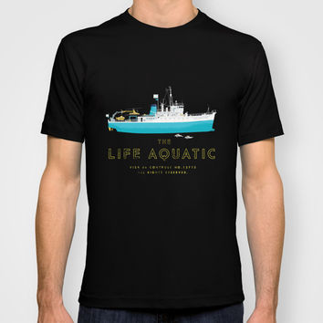 The Life Aquatic with Steve Zissou T-shirt by Steeeeee