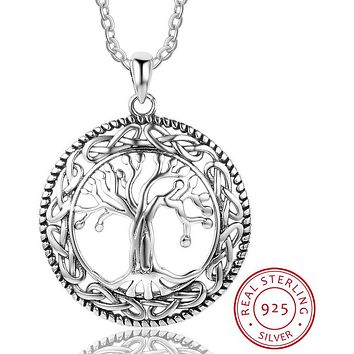 Tree of Life Large Pendant Necklace Jewelry 925 Sterling Silver