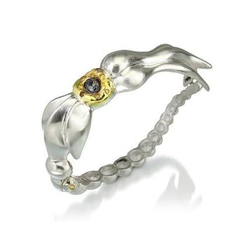 ALL NEW Ursula Cuff Bracelet with Pave Yellow and Black Diamonds
