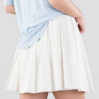 Jeanetta Perforated Skirt