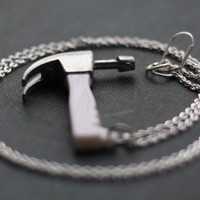 Hammer Hardware Handyman Tool Necklace by contrary on Etsy