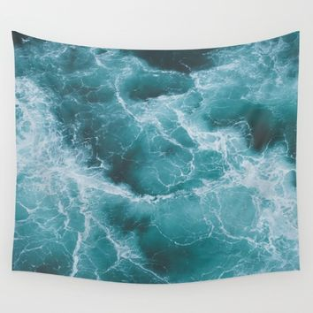 Electric Ocean Wall Tapestry by Luke Gram