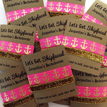 Bachelorette Party Favors // To Have and To Hold Your Hair Back //  - Hair Tie Favors - Wedding - Let's Get Shipfaced