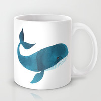 HAPPY WHALE Mug by Oana Befort