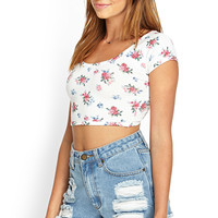 Crossback Floral Crop Top
