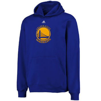 Youth Golden State Warriors adidas Royal Primary Logo Pullover Hoodie