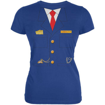 Halloween Train Conductor Costume Royal Juniors Soft T-Shirt