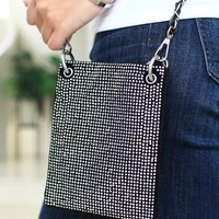 Small All Rhinestone Front Messenger