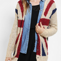 Urban Outfitters - Sparkle & Fade Union Jack Cozy Cardigan