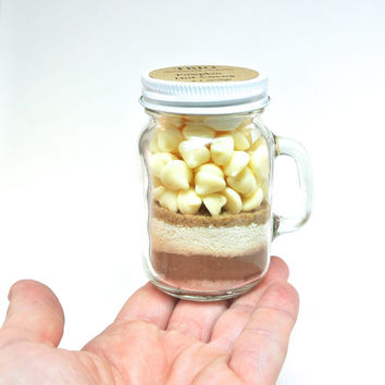 Mini Pumpkin Hot Chocolate- 4 oz Mason Jar Mug, Hot Cocoa Mix, Corporate Gift, Favor, Stocking Stuffer