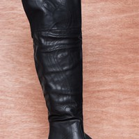 NY VIP Go Get Em Cowgirl Western Stitch Over The Knee Boots B107 - Black