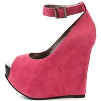 Wholesale Pink Fish Mouth Platform Wedges : Wholesaleclothing4u.com