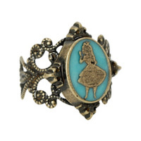 Disney Alice In Wonderland Cameo Ring