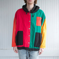 80's Colorblock Hooded Jacket