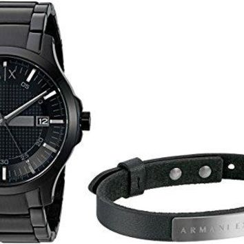 A/X Armani Exchange Smart Watch + Bracelet Gift Set