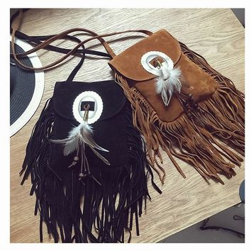 Fringed - Leather Fringe Purse