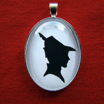 Prince Phillip from Sleeping Beauty Silhouette Cameo Pendant Necklace