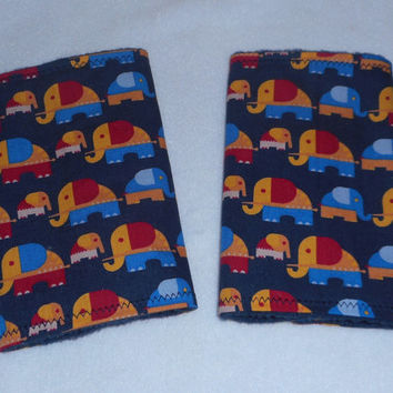 Teething Pads/Dribble/Drool Chew Pad For Baby Carriers/Ergo/Baby Bjorn/Elephants