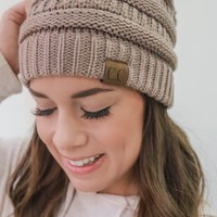 Warm At Last Beanie - Taupe